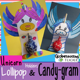 Unicorn Greeting Card Craft-Candy Gram and Lollipop Holder