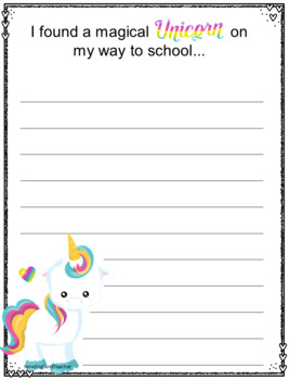 Unicorn Creative Writing Prompts (Printable Worksheets) by ...