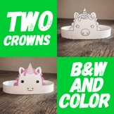 Unicorn Crown / Party Hat / Mask / Costume ** Two Crowns **