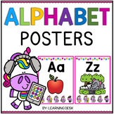Unicorn Classroom Theme - Alphabet Letters for Wall