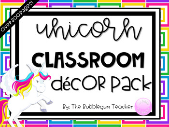 Unicorn Decor Pack