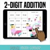 Unicorn Double Digit Addition GOOGLE Classroom Math