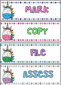 Unicorn Drawer Labels