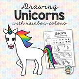 Art Lesson - Unicorn Drawing with Rainbow Colors