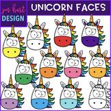 Unicorn Clip Art - Rainbow Unicorn Faces {jen hart Clip Art}
