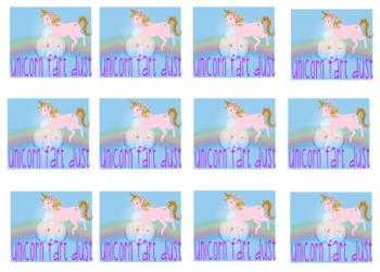 Unicorn Fart Dust Label