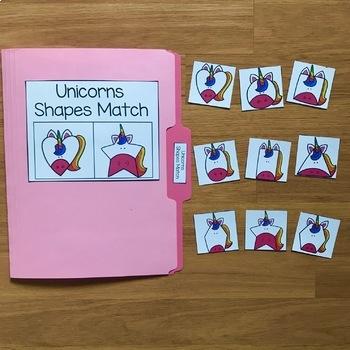 Unicorn File Folder Games