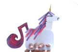 Unicorn Finger Puppet Free Paper Craft to go with book uni