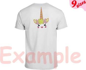 Unicorn Flower Designs for Embroidery Machine digital file 4x4 5x7 hoop 131b
