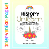 Unicorn Fluency Passage and Comprehension Activities