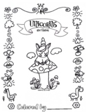 Unicorn & Friends, Coloring  Book (11 pages)