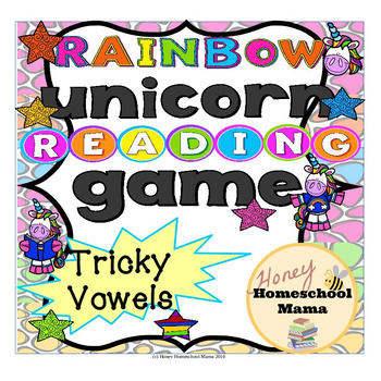 Unicorn Fun Reading Game for Practicing Tricky Vowels