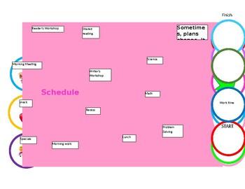 Unicorn Game Visual Schedule