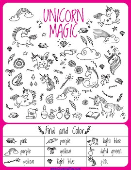 Unicorn Games, Activities,Puzzles - Great for Classroom and Birthday Parties
