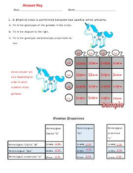 Dihybrid Crosses (F1 Dihybrid Cross Worksheet)