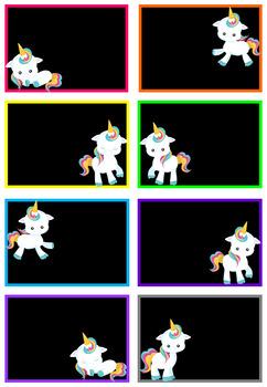 Unicorn Gift Tags EDITABLE