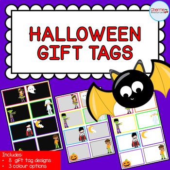 Halloween Gift Tags EDITABLE