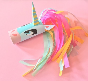 Unicorn Head Toilet Tube Craft