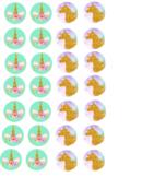 Unicorn Hershey Kisses Label ClipArt