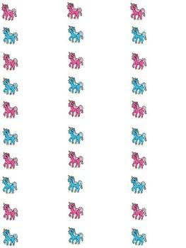 Unicorn Labels Editable