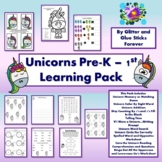 Unicorn Learning Pack for Pre-K to 1st Grade