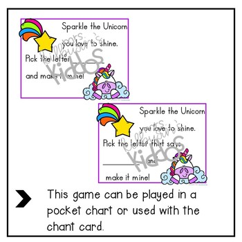 Unicorn Letter Recognition Game