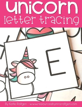 Unicorn Letter Tracing Cards