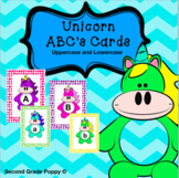Unicorn Letter identification Cards uppercase and lowercase