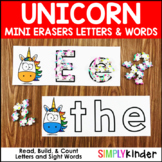 Unicorn Letters and Words Mini Eraser Activities