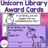 Unicorn Library Award Cards
