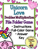 Unicorn Love Doubles Mutliplication File Folder Game