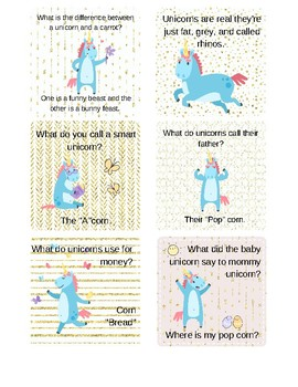 image regarding Lunch Box Jokes Printable called Unicorn Lunch Box Riddles Jokes as a result of Lanier Printables TpT