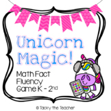 Unicorn Magic! Math Fact Fluency Card Game | Addition and Subtraction within 20