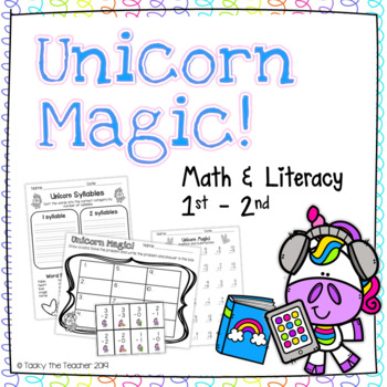 Unicorn Magic! Math & Literacy Bundle | EASY PREP Common Core Activities