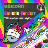 Unicorn Magic Motivational Decorative Borders (7 Different Designs)