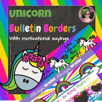 Unicorn Magic Motivational Decorative Borders (7 Different Designs)