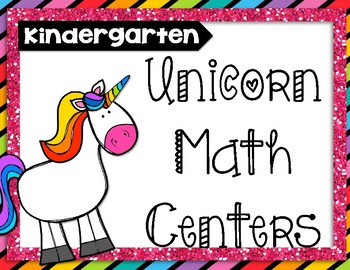 Unicorn Math Centers (Kindergarten)