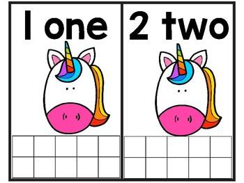 Unicorn Math Ten Frames