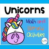 Unicorn Math and Literacy Pack