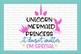 Unicorn Mermaid Princess Svg cutting design