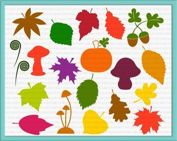 Fall leaves Clipart, for vinyl cut SVG files