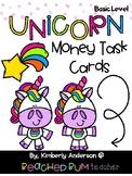 Unicorn Money Task Card Riddles (Basic Level)