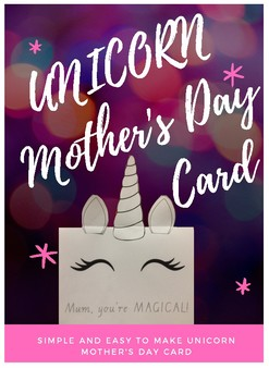 Unicorn Mother's Day Card