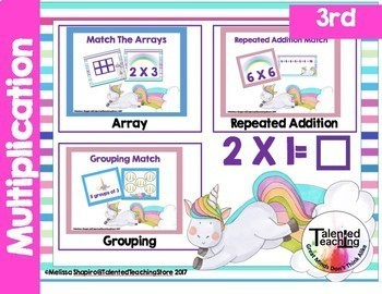 Unicorn Themed Multiplication Center