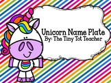 Unicorn Name Plates