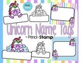 Unicorn Name Tages