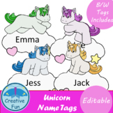 Unicorn Name Tags
