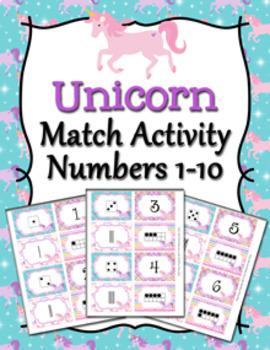 Unicorn Number Match Activity