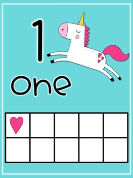 Unicorn Number Posters