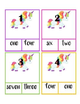 Unicorn Number Task Cards